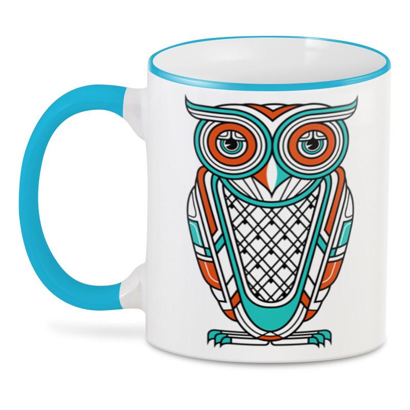 3d кружка printio сова и футбол Printio 3D кружка Сова (owl)