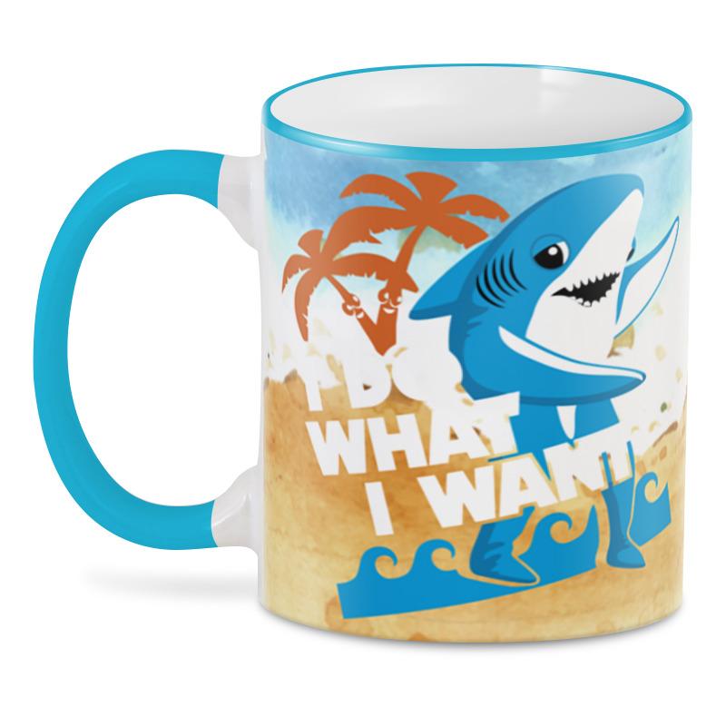 Printio 3D кружка Я делаю то,что хочу ( акула ) printio футболки парные я делаю то что хочу акула