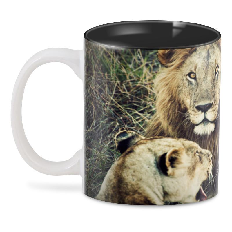 Printio 3D кружка Лев и львица