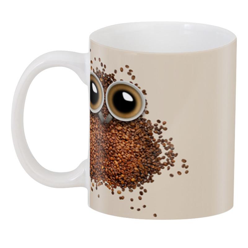 3d кружка printio сова и футбол Printio 3D кружка Кофе для совы