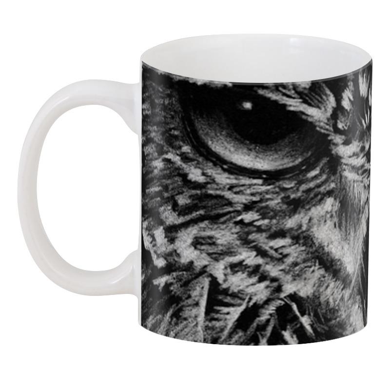 Printio 3D кружка Черно-белая сова