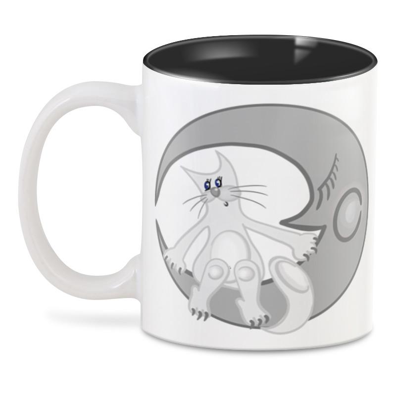 Printio 3D кружка Лунный кот сидит на луне