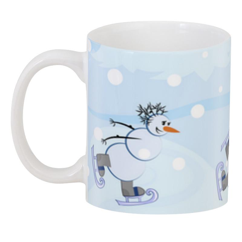 Printio 3D кружка Снеговики и зимние виды спорта