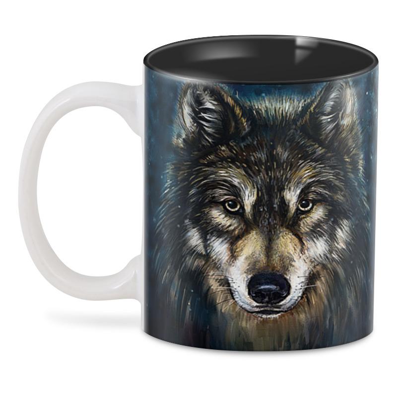Printio 3D кружка Волки фэнтези. седой волк printio рюкзак 3d волки фэнтези седой волк