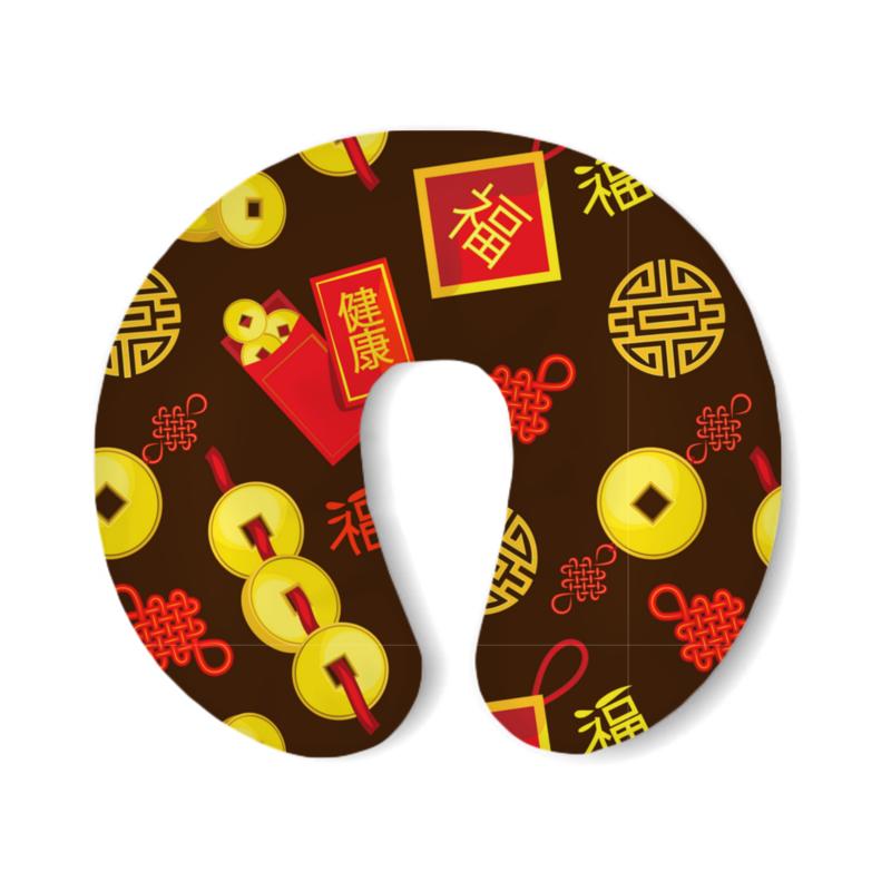 Printio Подушка для шеи Китайские символы удачи и достатка