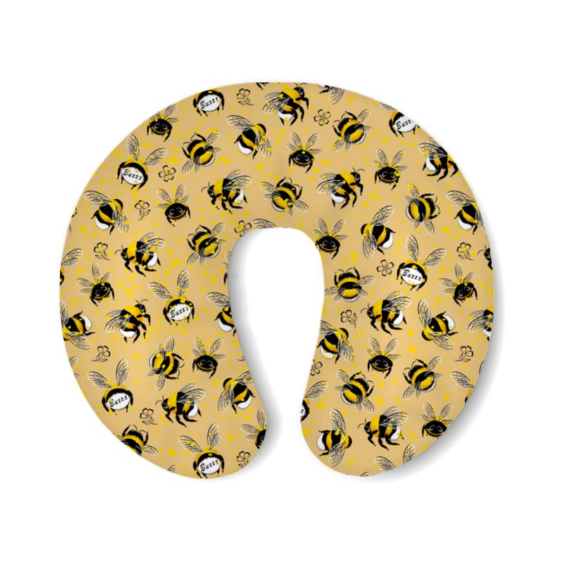 Фото - Printio Подушка для шеи Шмели и пыльца printio подушка для шеи полосатые тропики