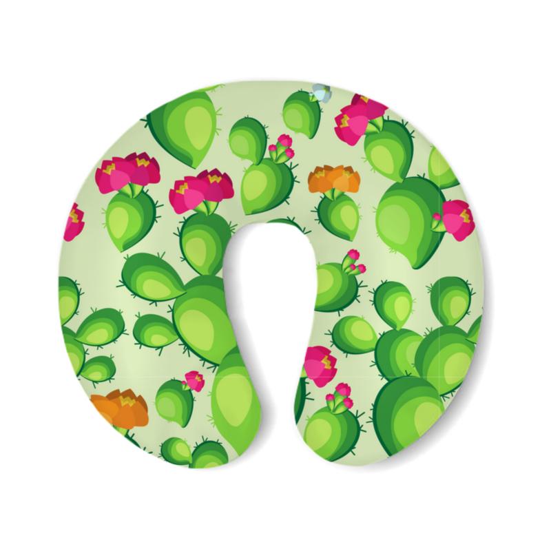 Printio Подушка для шеи Кактусы в цвету