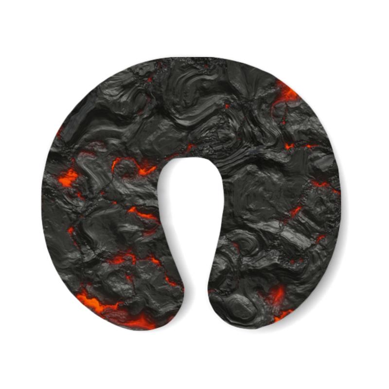 Printio Подушка для шеи Застывшая лава