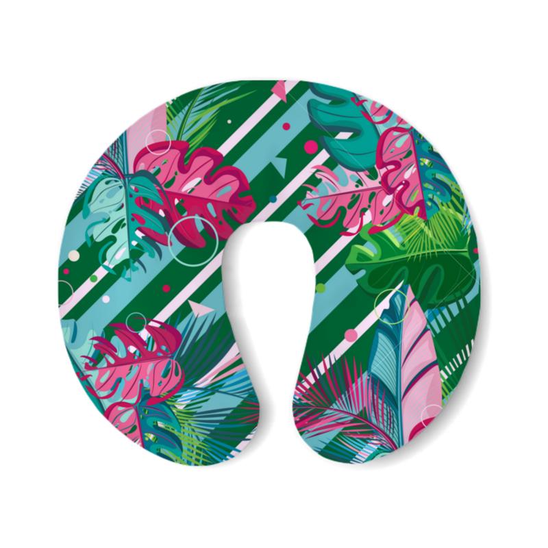 Фото - Printio Подушка для шеи Полосатые тропики printio подушка для шеи полосатые тропики