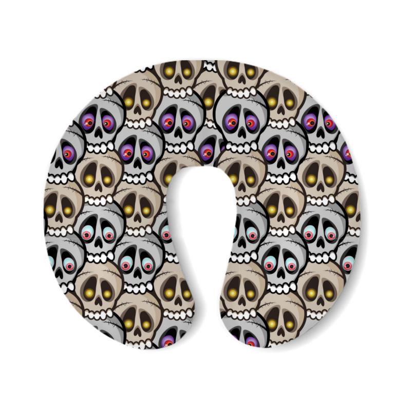 Printio Подушка для шеи Парад черепов