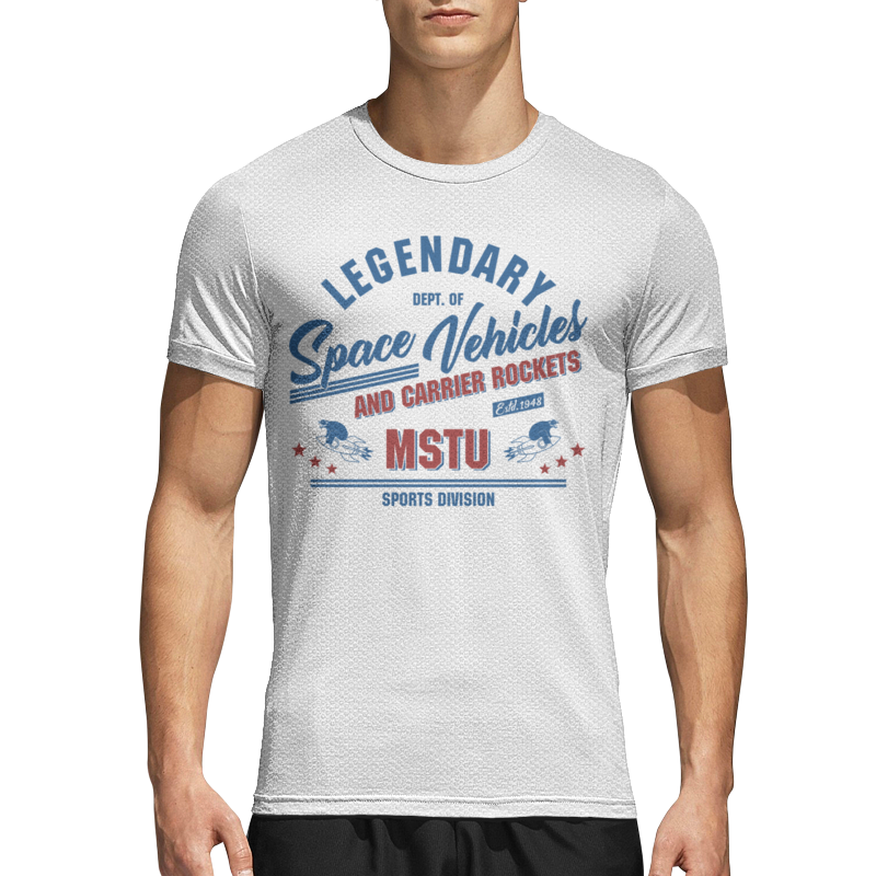 Printio Спортивная футболка 3D Космические аппараты мгту