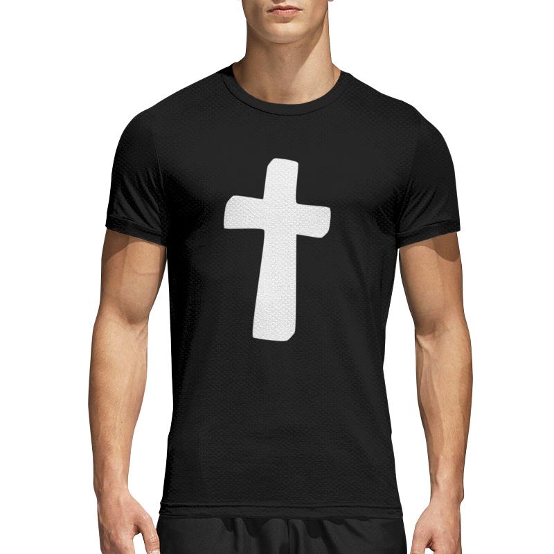 Printio Спортивная футболка 3D Белый крест