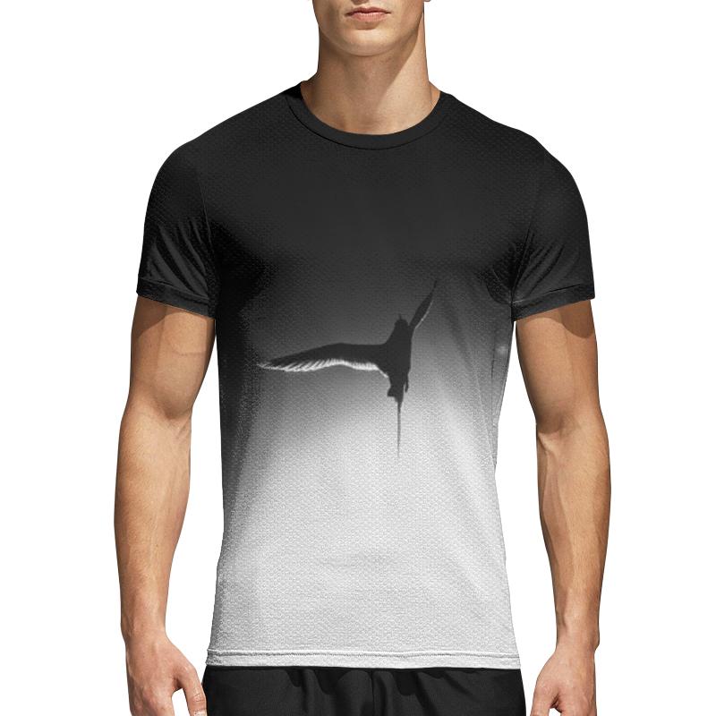 Printio Спортивная футболка 3D Птица и солнце