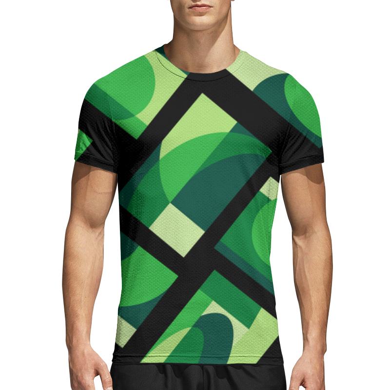 Printio Спортивная футболка 3D Зеленая абстракция