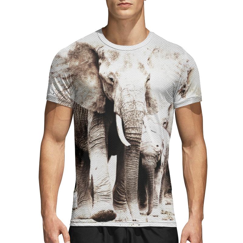 Printio Спортивная футболка 3D Семья слонов