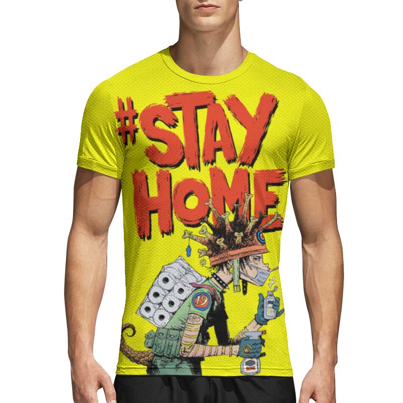 Printio Спортивная футболка 3D Оставайся дома