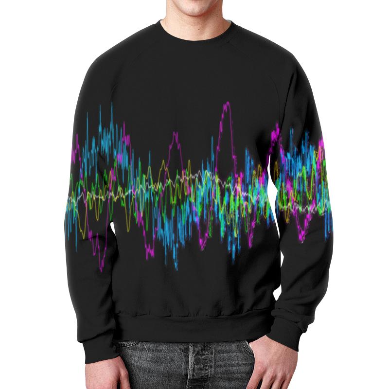 Printio Свитшот мужской с полной запечаткой Звуковая волна