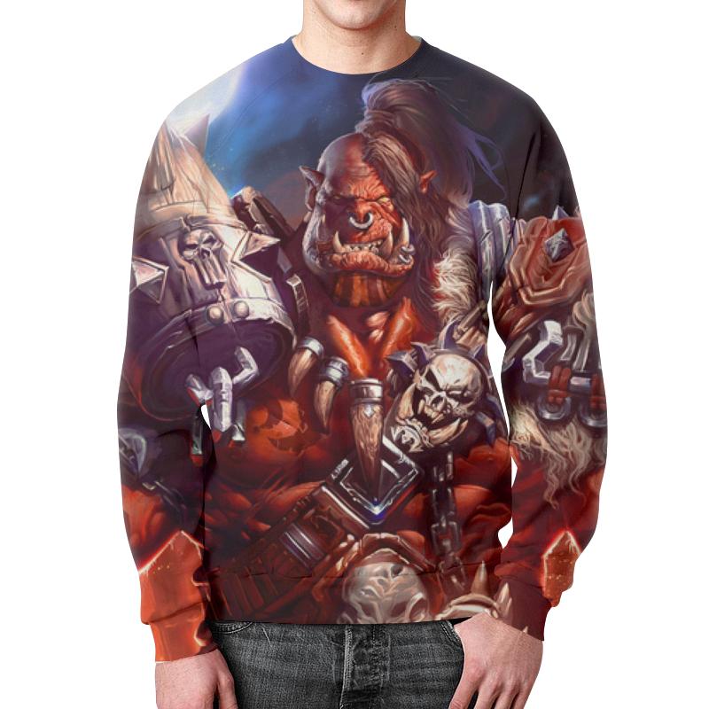 Printio Свитшот мужской с полной запечаткой Warcraft: орк