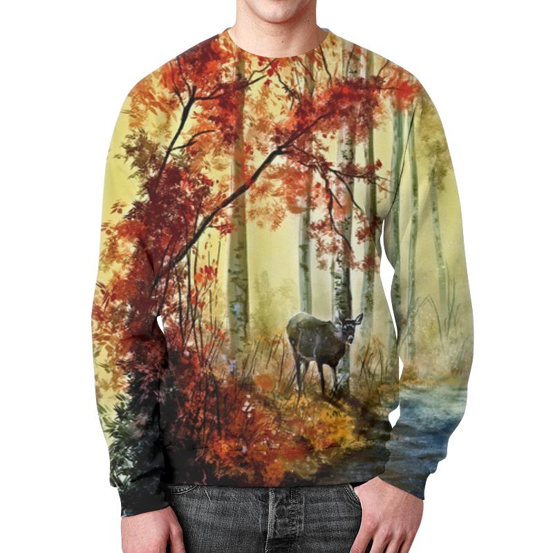 Printio Свитшот мужской с полной запечаткой Осенняя роща