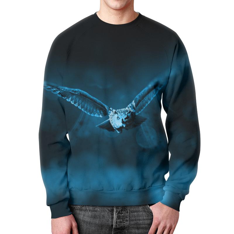 Printio Свитшот мужской с полной запечаткой Свитшот летящая сова
