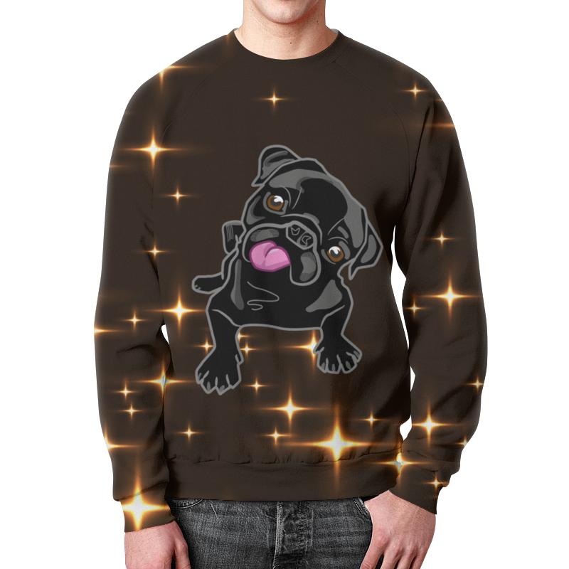 Printio Свитшот мужской с полной запечаткой Черный пес
