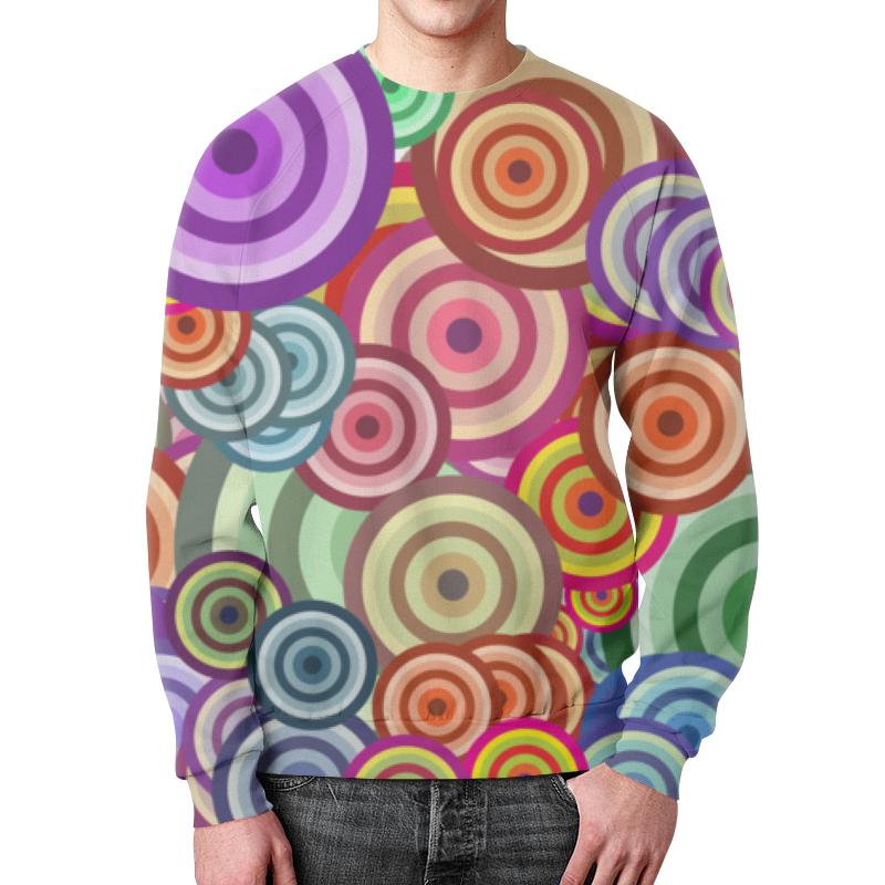 Printio Свитшот мужской с полной запечаткой Цветные круги