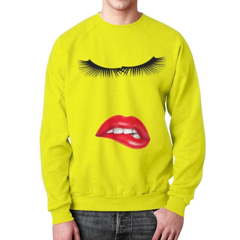 Printio Свитшот мужской с полной запечаткой Глаза губы зубы.