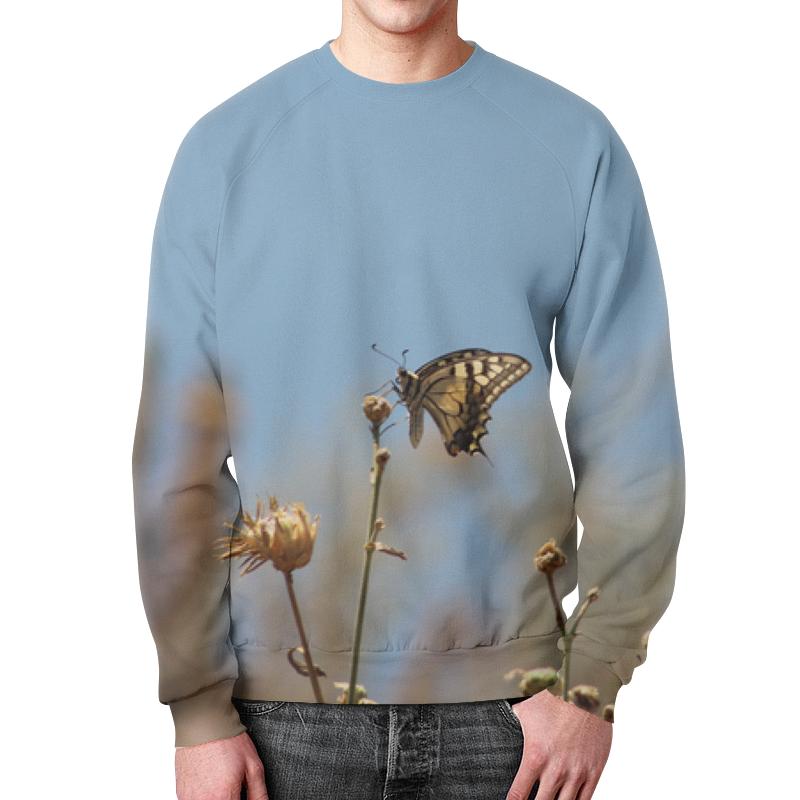 Printio Свитшот мужской с полной запечаткой Бабочка махаон