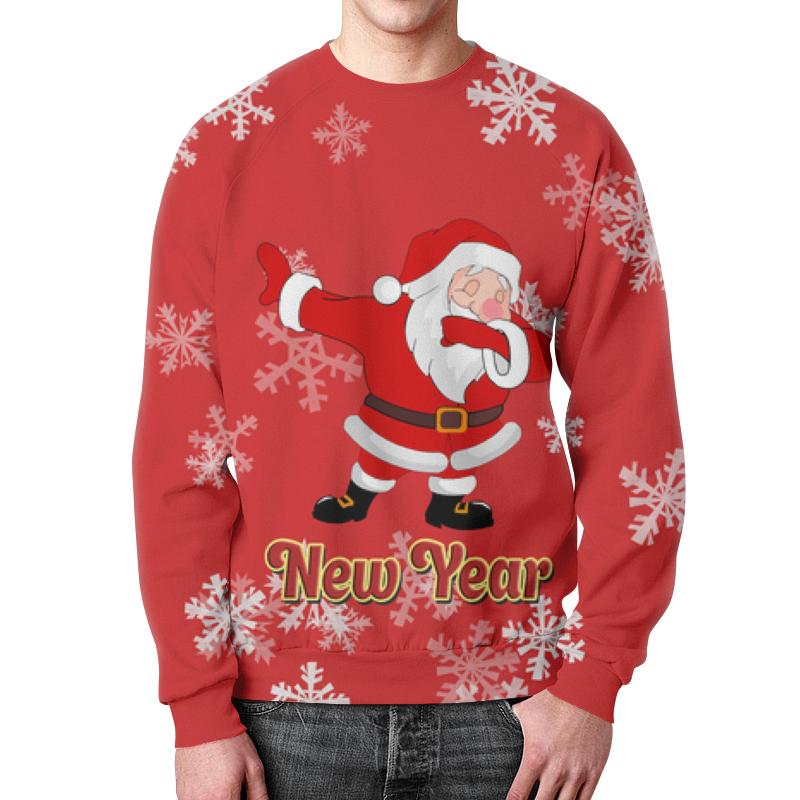 Printio Свитшот мужской с полной запечаткой Дед мороз
