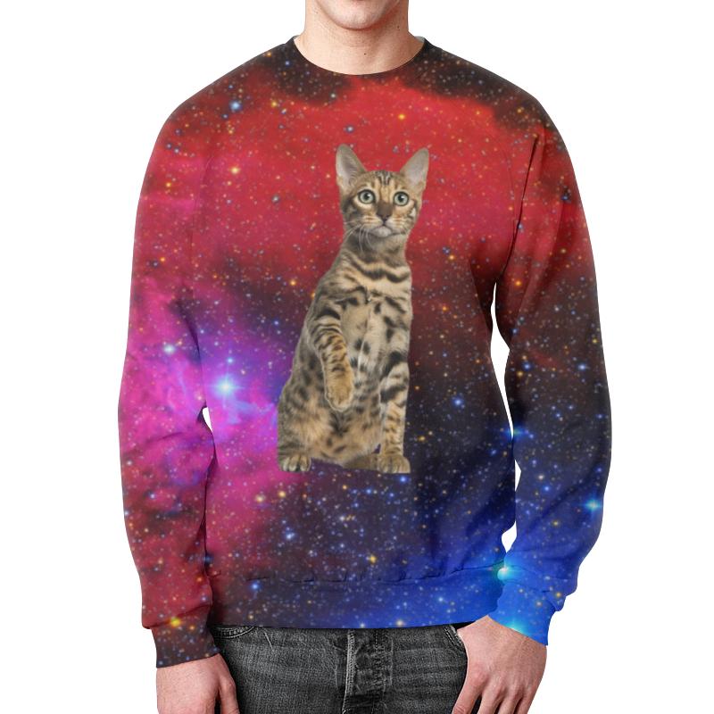 Фото - Printio Свитшот мужской с полной запечаткой кот в космосе printio детский свитшот с полной запечаткой в космосе