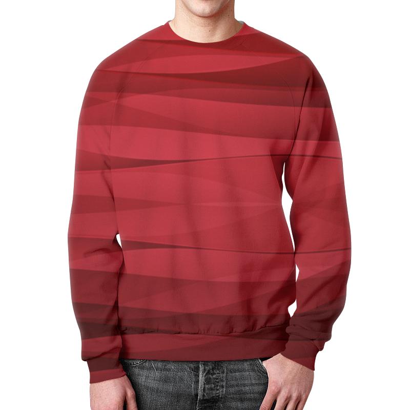 Printio Свитшот мужской с полной запечаткой Красная абстракция