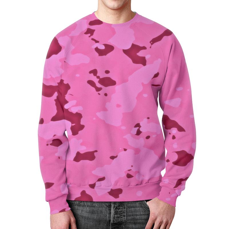 Printio Свитшот мужской с полной запечаткой Розовый камуфляж