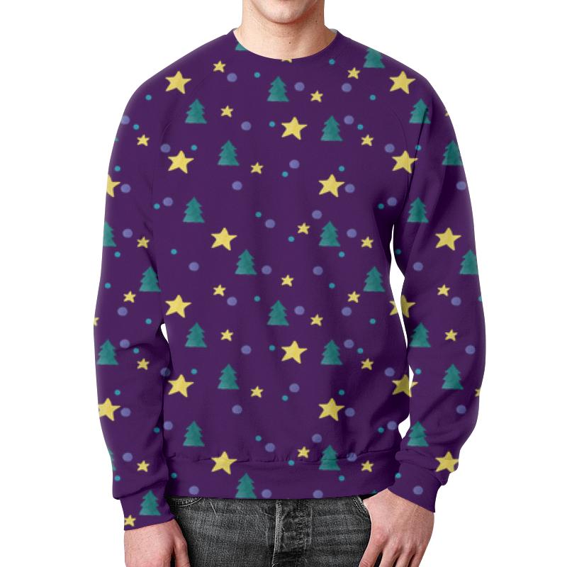 Printio Свитшот мужской с полной запечаткой Елки и звезды детский свитшот унисекс printio елки и звезды