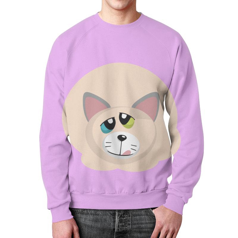 Printio Свитшот мужской с полной запечаткой Успешный котик