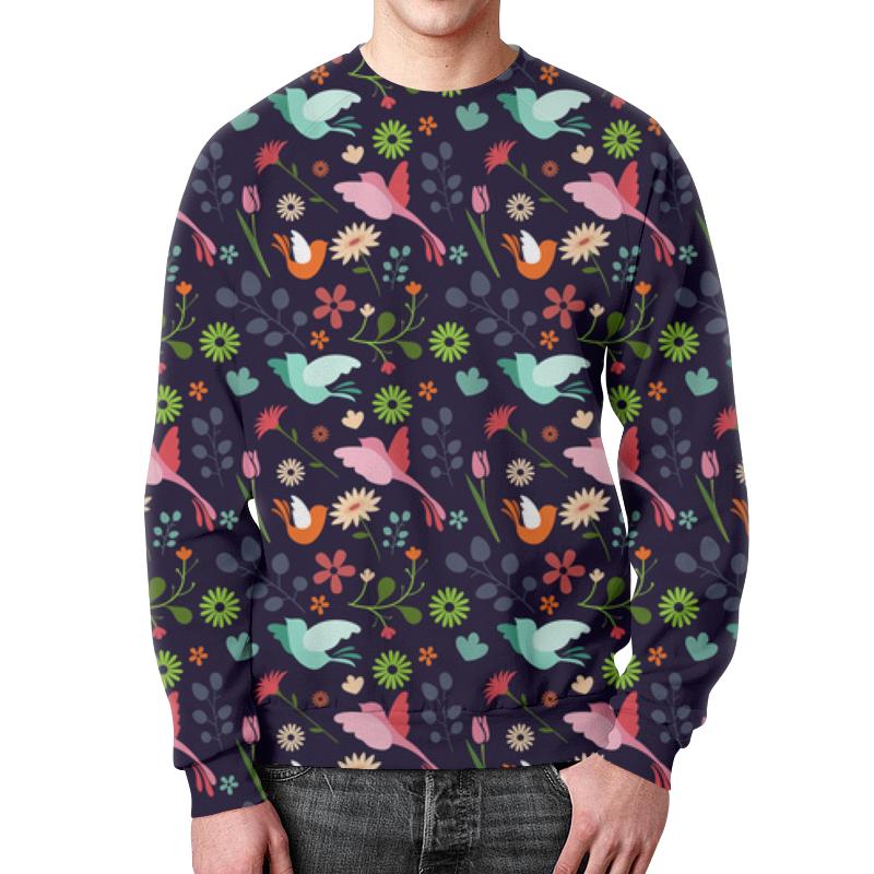 Фото - Printio Свитшот мужской с полной запечаткой Birds & flowers printio детский свитшот с полной запечаткой свитшот с angry birds