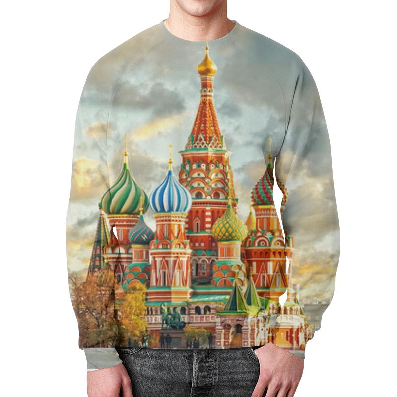 Printio Свитшот мужской с полной запечаткой Москва (россия)
