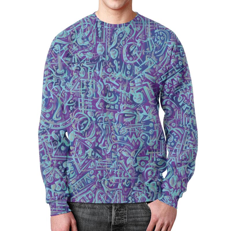 Printio Свитшот мужской с полной запечаткой Голубое в фиолетовом
