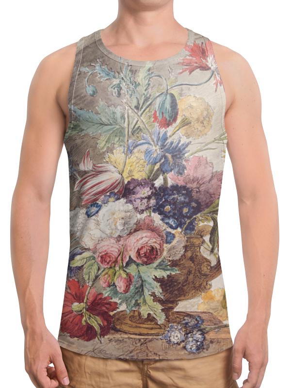 Printio Борцовка с полной запечаткой Цветочный натюрморт (ян ван хёйсум) printio открытка цветочный натюрморт ян ван хёйсум