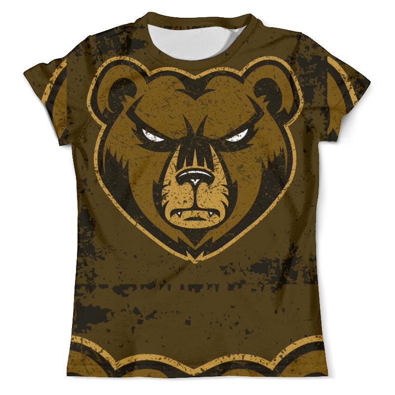 Printio Футболка с полной запечаткой (мужская) Медведь. символика