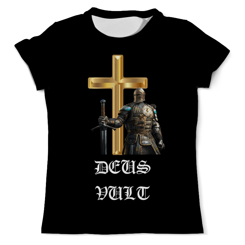 Printio Футболка с полной запечаткой (мужская) Deus vult. крестоносцы printio свитшот мужской с полной запечаткой deus vult крестоносцы
