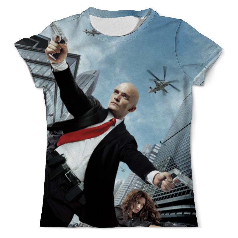 футболка с полной запечаткой для девочек printio hitman Printio Футболка с полной запечаткой (мужская) Hitman