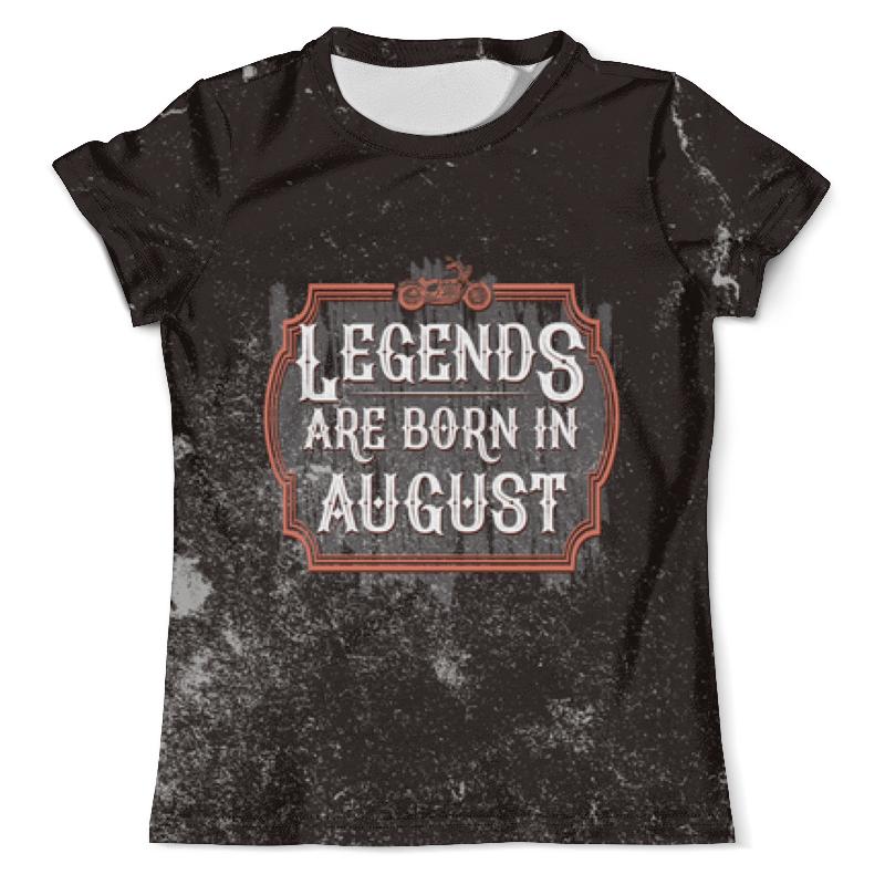 Printio Футболка с полной запечаткой (мужская) Legends are born in august