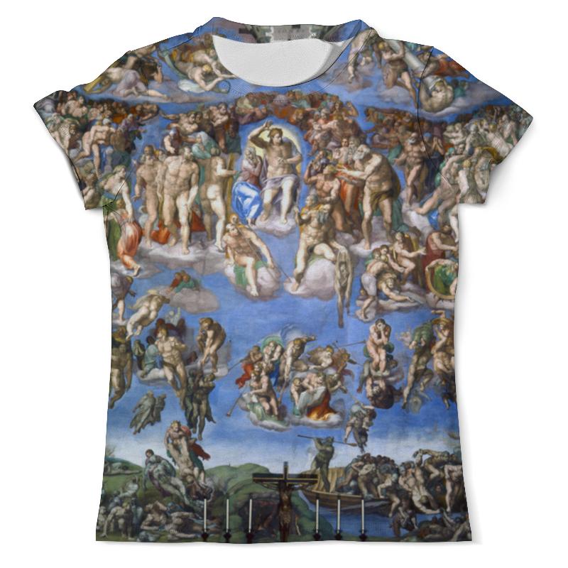 Printio Футболка с полной запечаткой (мужская) Страшный суд (микеланджело)