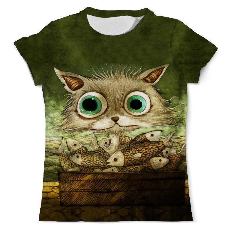 Фото - Printio Футболка с полной запечаткой (мужская) Котик с рыбками printio футболка с полной запечаткой женская котик с рыбками