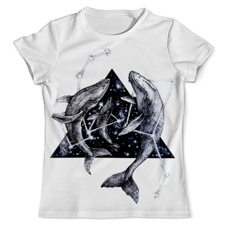 футболка с полной запечаткой мужская printio забавные киты Printio Футболка с полной запечаткой (мужская) Звездные киты