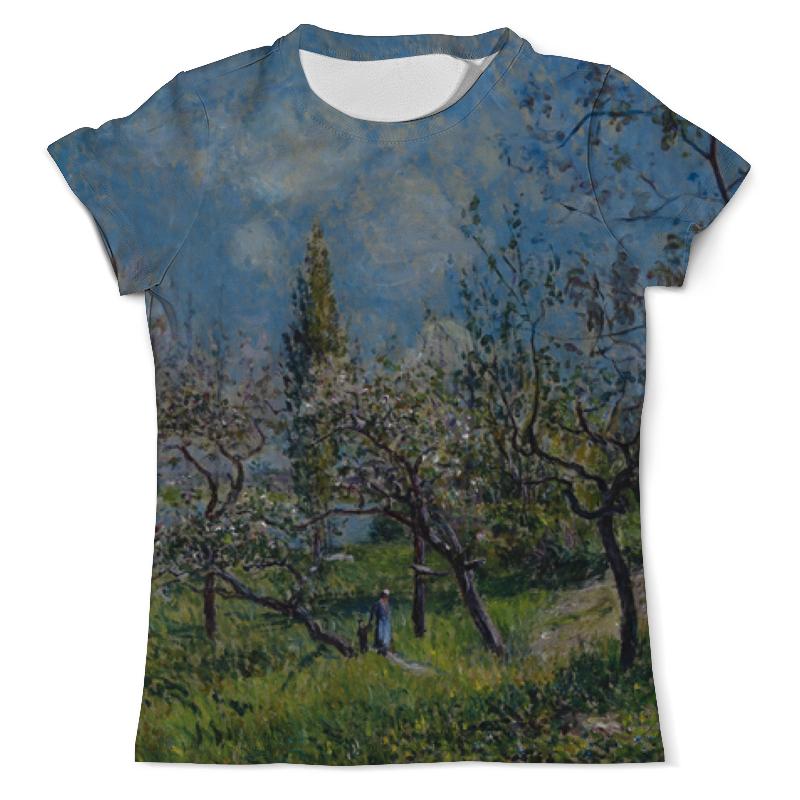 Printio Футболка с полной запечаткой (мужская) Фруктовый сад весной (альфред сислей) printio тетрадь на скрепке фруктовый сад весной альфред сислей