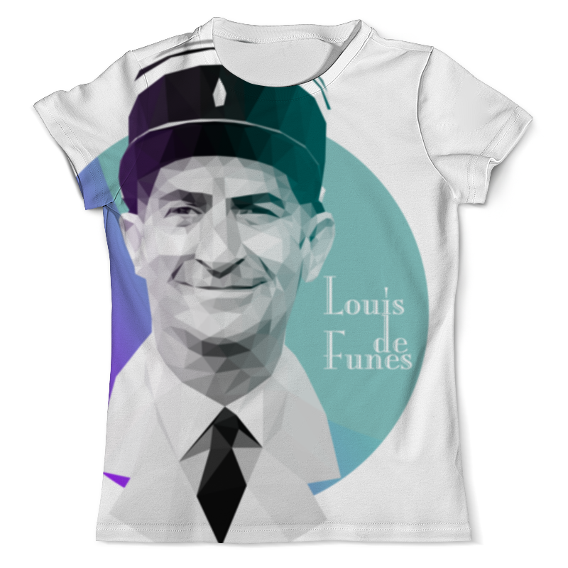 Фото - Printio Футболка с полной запечаткой (мужская) Луи де фюнес low-poly printio футболка с полной запечаткой мужская лиса low poly