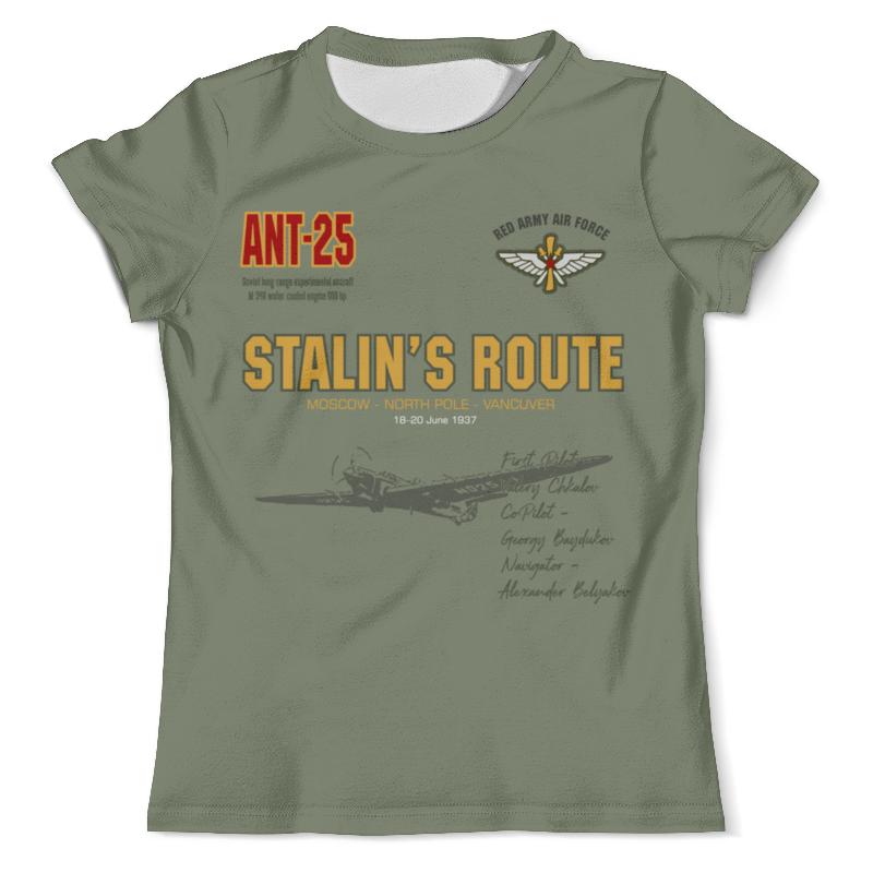 Printio Футболка с полной запечаткой (мужская) Сталинский маршрут