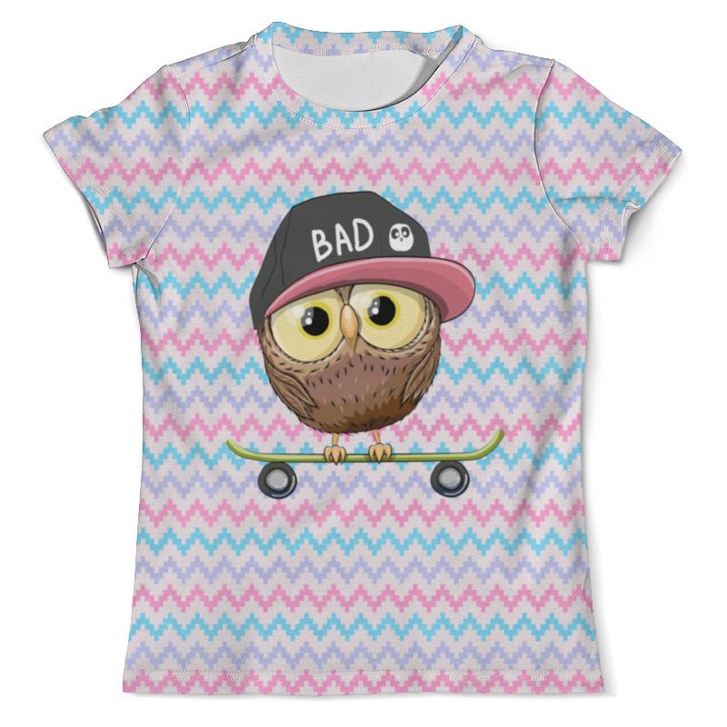 Фото - Printio Футболка с полной запечаткой (мужская) Сова и скейт printio футболка с полной запечаткой для девочек сова и скейт