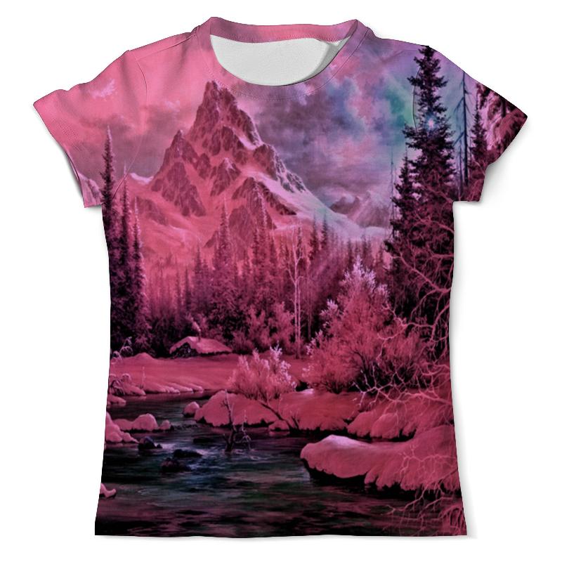 Фото - Printio Футболка с полной запечаткой (мужская) Розовый пейзаж printio футболка с полной запечаткой мужская живописный пейзаж